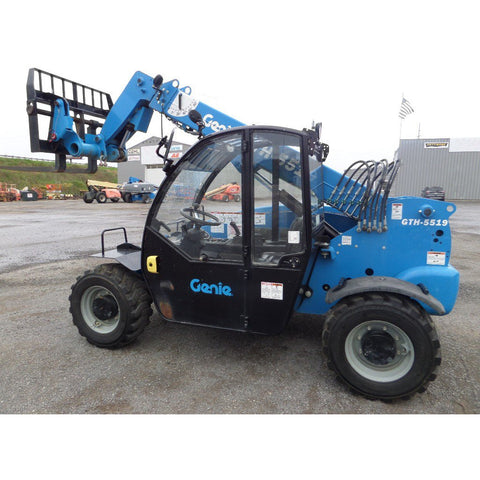 2015 GENIE GTH5519 5500 LB DIESEL TELESCOPIC FORKLIFT TELEHANDLER PNEUMATIC 4WD 792 HOURS STOCK # BF545489-629-VAOH