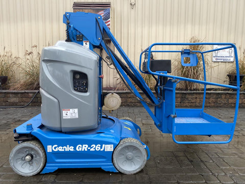 2014 GENIE GR26J PERSONAL RUNABOUT LIFT WITH JIB ARM 26' REACH ELECTRIC 29 HOURS STOCK # BF9189759-NLEQ - United Lift Used & New Forklift Telehandler Scissor Lift Boomlift