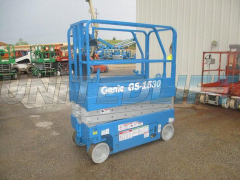 2005 GENIE GS1530 SCISSOR LIFT 15' REACH ELECTRIC 362 HOURS (2 UNITS AVAILABLE) STOCK # BF936529-WIB