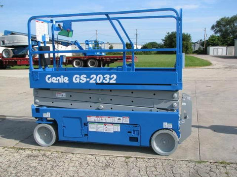 2012 GENIE GS2032 SCISSOR LIFT 20' REACH ELECTRIC SMOOTH CUSHION TIRES 171 HOURS STOCK # BF956549-WIBIL