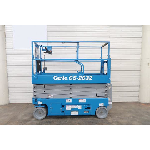 2018 GENIE GS2632 SCISSOR LIFT 26' REACH ELECTRIC SMOOTH CUSHION TIRES STOCK # BF18719-DPA