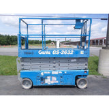 2007 GENIE GS2632 SCISSOR LIFT 26' REACH ELECTRIC SMOOTH CUSHION TIRES 520 HOURS STOCK #BF9698499-PAB