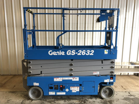 2018 GENIE GS2632 SCISSOR LIFT 26' REACH ELECTRIC SMOOTH CUSHION TIRES STOCK # BF9159549-ISCNY - United Lift Used & New Forklift Telehandler Scissor Lift Boomlift