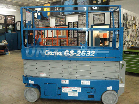2012 GENIE GS2632 SCISSOR LIFT 26' REACH ELECTRIC SMOOTH CUSHION TIRES 207 HOURS STOCK # BF966539-WWIB