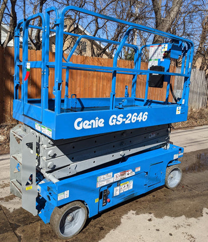 2007 GENIE GS2646 SCISSOR LIFT 26' REACH ELECTRIC 2WD 58 HOURS STOCK # BF949529-WIBIL - United Lift Equipment LLC