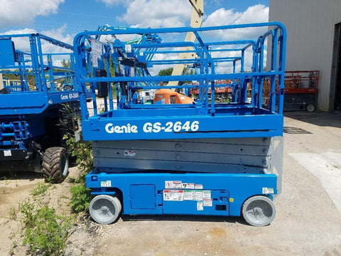 2013 GENIE GS2646 SCISSOR LIFT 26' REACH ELECTRIC DECK EXTENSION 280 HOURS STOCK # BF968549-WIB