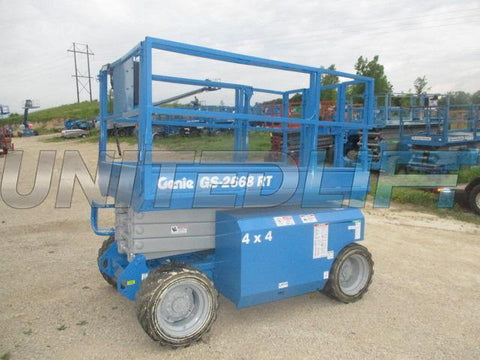2005 GENIE GS2668RT SCISSOR LIFT 26' REACH DUAL FUEL ROUGH TERRAIN 4WD 2734 HOURS STOCK # BF993529-WIB