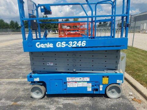 2007 GENIE GS3246 SCISSOR LIFT 32' REACH ELECTRIC SMOOTH CUSHION TIRES 390 HOURS STOCK # BF959619-WIBIL