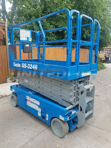 2007 GENIE GS3246 SCISSOR LIFT 32' REACH ELECTRIC SMOOTH CUSHION TIRES 365 HOURS STOCK # BF964589-WIBIL