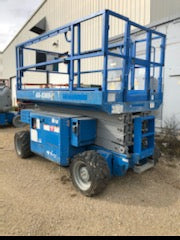 2012 GENIE GS3369RT DUAL FUEL ROUGH TERRAIN SCISSOR LIFT 33′ REACH 4WD 1109 HOURS STOCK # BF9128529-WIB - United Lift Used & New Forklift Telehandler Scissor Lift Boomlift