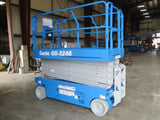 2016 GENIE GS3246 SCISSOR LIFT 32' REACH ELECTRIC SMOOTH CUSHION TIRES 194 HOURS STOCK # BF9124559-WIB