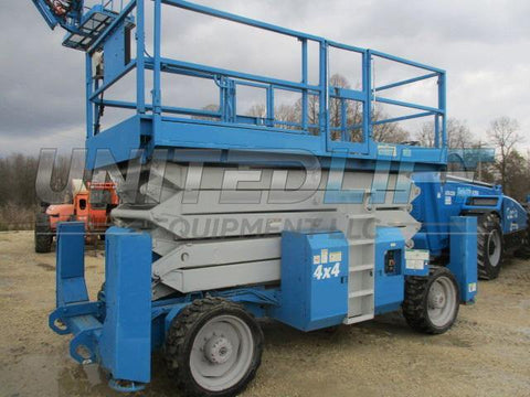 2002 GENIE GS5390RT SCISSOR LIFT 53' REACH DUAL FUEL ROUGH TERRAIN 4WD 2181 HOURS STOCK # BF9135529-WIB