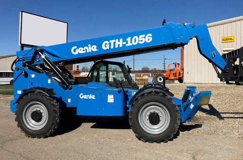 2021 GENIE GTH1056 10000 LB DIESEL TELESCOPIC FORKLIFT TELEHANDLER PNEUMATIC 4WD AUXILIARY HYDRAULICS ENCLOSED CAB BRAND NEW HOURS STOCK # BF91349119-HLIL