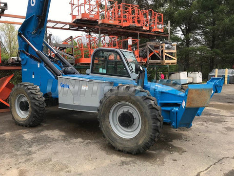2012 GENIE GTH1056 10000 LB DIESEL TELESCOPIC FORKLIFT TELEHANDLER PNEUMATIC 4WD ENCLOSED CAB STOCK # BF9478549-WIBNJ