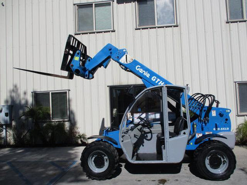 2012 GENIE GTH5519 5500 LB DIESEL TELESCOPIC FORKLIFT TELEHANDLER PNEUMATIC 1088 HOURS 4WD STOCK # BF9365159-PAB