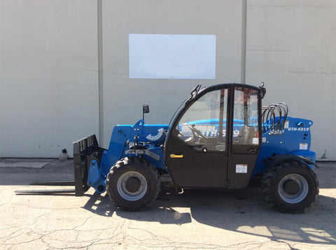 2019 GENIE GTH5519 5500 LB DIESEL TELESCOPIC FORKLIFT TELEHANDLER PNEUMATIC 4WD HEATED CAB BRAND NEW STOCK # BF9609949-AEND