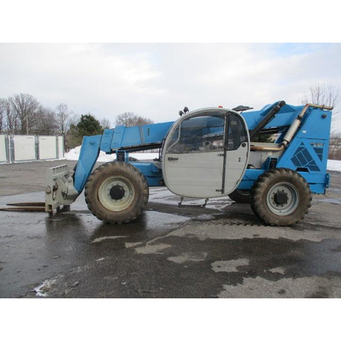 2011 GENIE GTH844 8000 LB DIESEL TELESCOPIC FORKLIFT TELEHANDLER PNEUMATIC 4WD ENCLOSED CAB 3842 HOURS STOCK # BF9434579-499-WIB