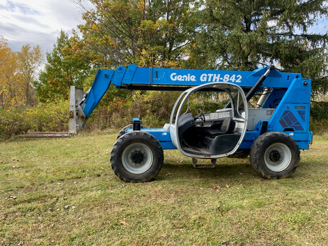 2008 GENIE GTH842 8000 LB DIESEL TELESCOPIC FORKLIFT TELEHANDLER PNEUMATIC 4WD 3844 HOURS STOCK # BF9275549-BUF - United Lift Used & New Forklift Telehandler Scissor Lift Boomlift