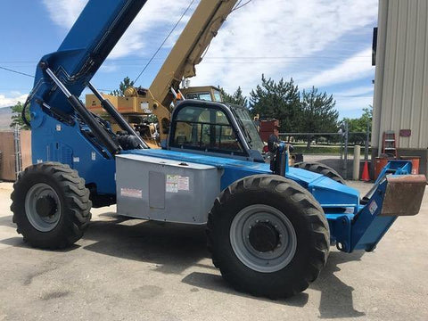 2014 GENIE GTH1056 10000 LB DIESEL TELESCOPIC FORKLIFT TELEHANDLER PNEUMATIC 4WD ENCLOSED CAB 4900 HOURS STOCK # BF9653249-LMID
