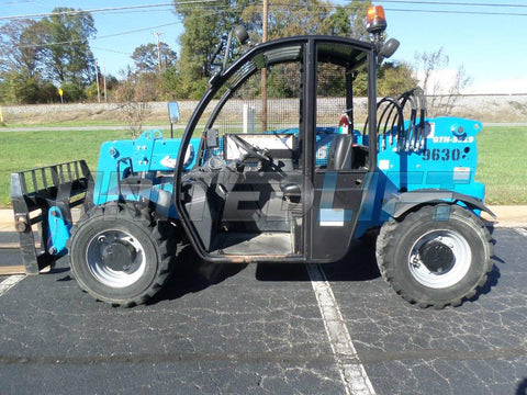 2018 GENIE GTH5519 5500 LB DIESEL TELESCOPIC FORKLIFT TELEHANDLER PNEUMATIC 4WD 280 HOURS STOCK # BF9479129-PABNC
