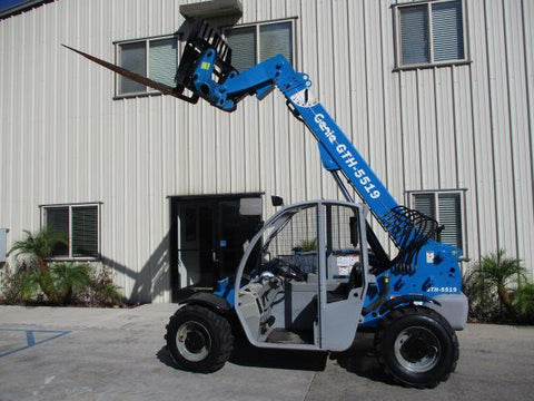 2012 GENIE GTH5519 5500 LB DIESEL TELESCOPIC FORKLIFT TELEHANDLER PNEUMATIC 4WD 1537 HOURS STOCK # BF9365249-PABCA