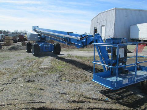 2007 GENIE S125 TELESCOPIC BOOM LIFT AERIAL LIFT 125' REACH DIESEL 4WD 1441 HOURS STOCK # BF9418529-599-WITNB - united-lift-equipment