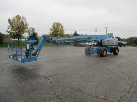 2008 GENIE S125 TELESCOPIC STRAIGHT BOOM LIFT AERIAL LIFT WITH JIB ARM 125' REACH DIESEL 4WD 4058 HOURS STOCK # BF9348549-WIB - United Lift Used & New Forklift Telehandler Scissor Lift Boomlift