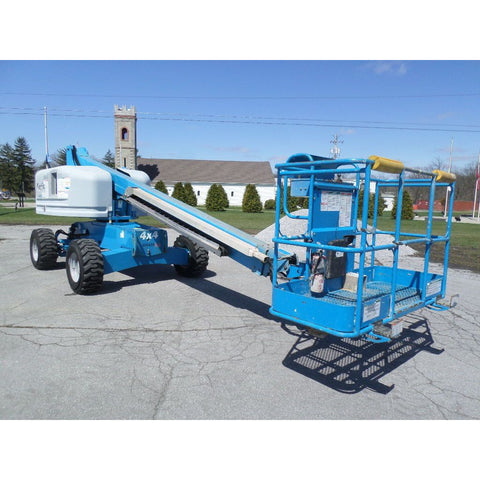 2007 GENIE S40 TELESCOPIC BOOM LIFT AERIAL LIFT 40' REACH DUAL FUEL 4WD 3056 HOURS STOCK # BF9189129-PAB