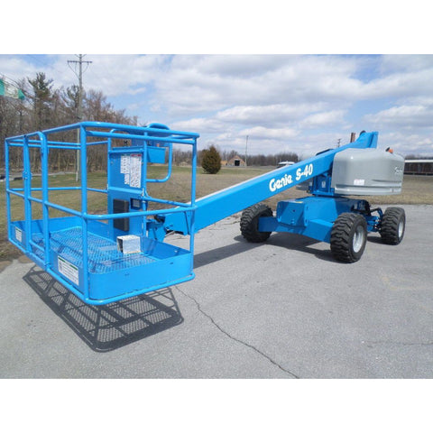 2008 GENIE S40 TELESCOPIC BOOM LIFT AERIAL LIFT 40' REACH DIESEL 4WD 3137 HOURS STOCK # BF9228499-PAB