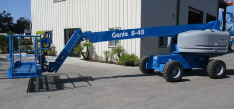 2019 GENIE S45 TELESCOPIC STRAIGHT BOOM LIFT AERIAL LIFT WITH JIB 45' REACH DIESEL 4WD 24 HOURS STOCK # BF9499529-NLEQ - United Lift Used & New Forklift Telehandler Scissor Lift Boomlift