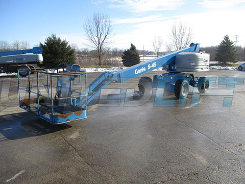 2015 GENIE S45 TELESCOPIC BOOM LIFT AERIAL LIFT 45' REACH DIESEL 4WD 2925 HOURS STOCK # BF9354549-WIB