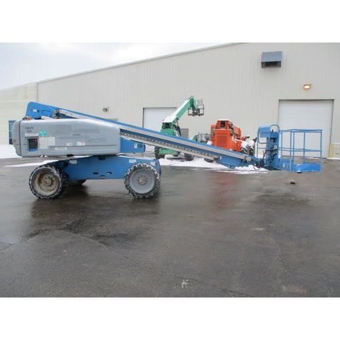 2007 GENIE S60 TELESCOPIC BOOM LIFT AERIAL LIFT 60' REACH DIESEL 4WD 3605 HOURS STOCK # BF9216269-319-WIB