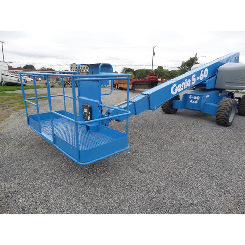 2007 GENIE S60 TELESCOPIC BOOM LIFT AERIAL LIFT 60' REACH DIESEL 4WD 3538 HOURS STOCK # BF9294219-429-VAOH - United Lift Used & New Forklift Telehandler Scissor Lift Boomlift
