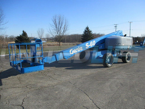 2007 GENIE S60 TELESCOPIC BOOM LIFT AERIAL LIFT 60' REACH DIESEL 4WD 3351 HOURS STOCK # BF9238549-WIB - United Lift Used & New Forklift Telehandler Scissor Lift Boomlift