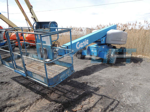 2007 GENIE S60 500 LBS DIESEL TELESCOPIC BOOM LIFT 60′ REACH 4WD PNEUMATIC 3900 HOURS STOCK # BF9248139-DBUF