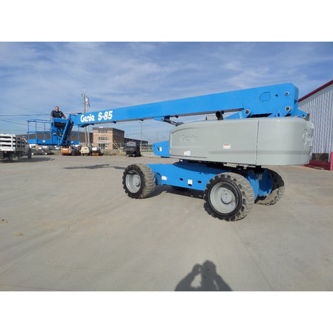 2013 GENIE S85 TELESCOPIC BOOM LIFT AERIAL LIFT 85' REACH DIESEL 4WD 3843 HOURS # BF9735429-849-VAOH