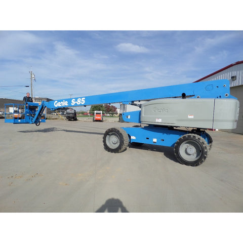 2013 GENIE S85 TELESCOPIC BOOM LIFT AERIAL LIFT 85' REACH DIESEL 4WD 3843 HOURS # BF9735429-849-VAOH - United Lift Used & New Forklift Telehandler Scissor Lift Boomlift