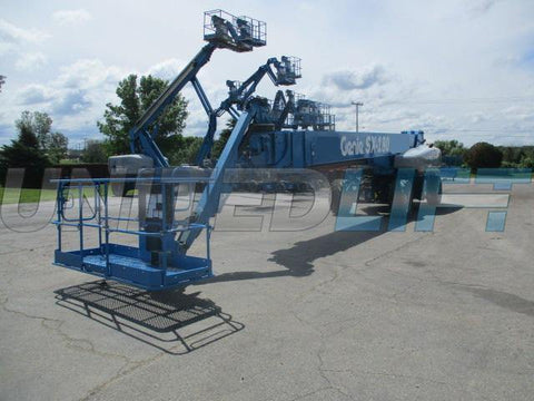 2016 GENIE SX180 TELESCOPIC STRAIGHT BOOM LIFT AERIAL LIFT WITH JIB ARM 180' REACH DIESEL 4WD 1055 HOURS STOCK # BF91795129-WIB