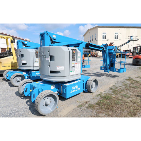 2012 GENIE Z34/22N ARTICULATING BOOM LIFT AERIAL LIFT 34' REACH 48 VOLT ELECTRIC 2WD 400 HOURS STOCK # BF19527-DPA