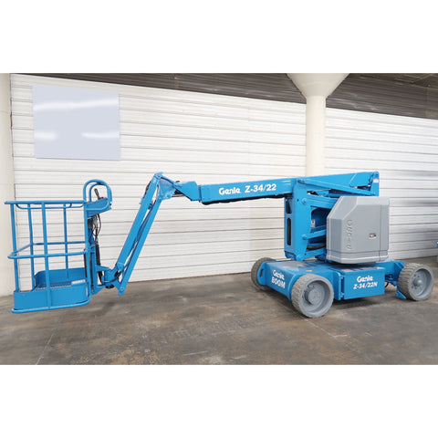 2007 GENIE Z34/22N ARTICULATING BOOM LIFT AERIAL LIFT 34' REACH 48 VOLT ELECTRIC 2WD 496 HOURS STOCK # BF18741-DPA
