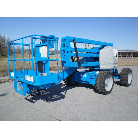 2007 GENIE Z45/25 ARTICULATING BOOM LIFT AERIAL LIFT 45' REACH DUAL FUEL 4WD 3254 HOURS STOCK # BF9248969-PAB