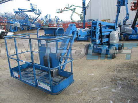 2012 GENIE Z45/25J DC ARTICULATING BOOM LIFT AERIAL LIFT 45' REACH ELECTRIC STOCK # BF9214539-WIB