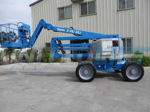 2012 GENIE Z-45/25J 500 LBS DUAL FUEL 45 FT BOOM LIFT ARTICULATING WITH JIB ARM 4WD 2198 HOURS STK# BF9239189-PABCA