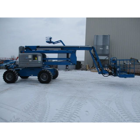 2005 GENIE Z60/34 ARTICULATING BOOM LIFT AERIAL LIFT 60' REACH DUAL FUEL 3607 HOURS STOCK # BF9274519-369-WIB