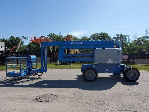 2011 GENIE Z60/34 ARTICULATING BOOM LIFT AERIAL LIFT WITH JIB ARM 60' REACH DIESEL 802 HOURS STOCK # BF9273349-RIL - United Lift Used & New Forklift Telehandler Scissor Lift Boomlift