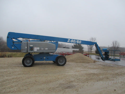 2007 GENIE Z80/60 ARTICULATING BOOM LIFT AERIAL LIFT 80' REACH DIESEL 4482 HOURS STOCK # BF9358569-469-WIB - united-lift-equipment
