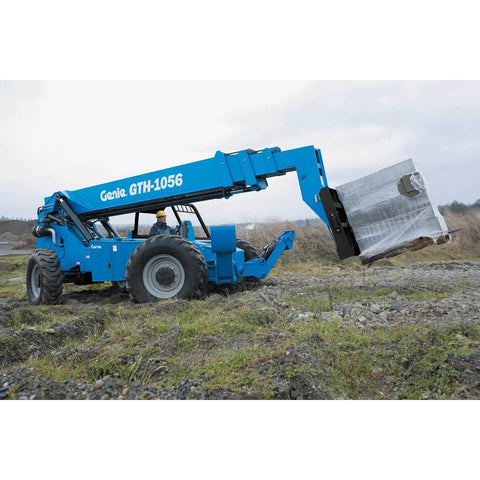 "BRAND NEW 2019 GENIE GTH-1056 10000 LB DIESEL TELESCOPIC FORKLIFT TELEHANDLER OPEN CAB PNEUMATIC 4WD 48"" CARRIAGE STOCK # BF91237229-129-VAOH"