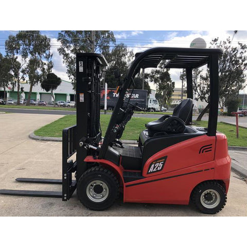 BRAND NEW 2018 HANGCHA A-25 4000 LB FORKLIFT ELECTRIC PNEUMATIC 86/171 3 STAGE MAST SIDE SHIFTER STOCK # BF9266259-359-BUF ** OWN FOR ONLY $518 PER MONTH**