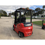 2018 HANGCHA A-25 5000 LB FORKLIFT ELECTRIC PNEUMATIC 86/185 3 STAGE MAST SIDE SHIFTER STOCK # BF921629-319-BUF - united-lift-equipment