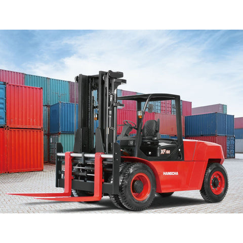 BRAND NEW 2019 HANGCHA XF-100 22000 LB FORKLIFT DIESEL PNEUMATIC 112/178 3 STAGE MAST SIDE SHIFTER STOCK # BF9756159-899-BUF